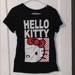 Black hello kitty T-shirt